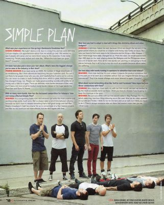 Simple Plan | Alternative Press 2010